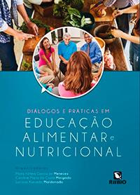 Capa do livro Diálogos e práticas em educação alimentar e nutricional