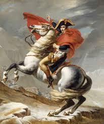 Pintura de Napoleão montado em um cavalo
