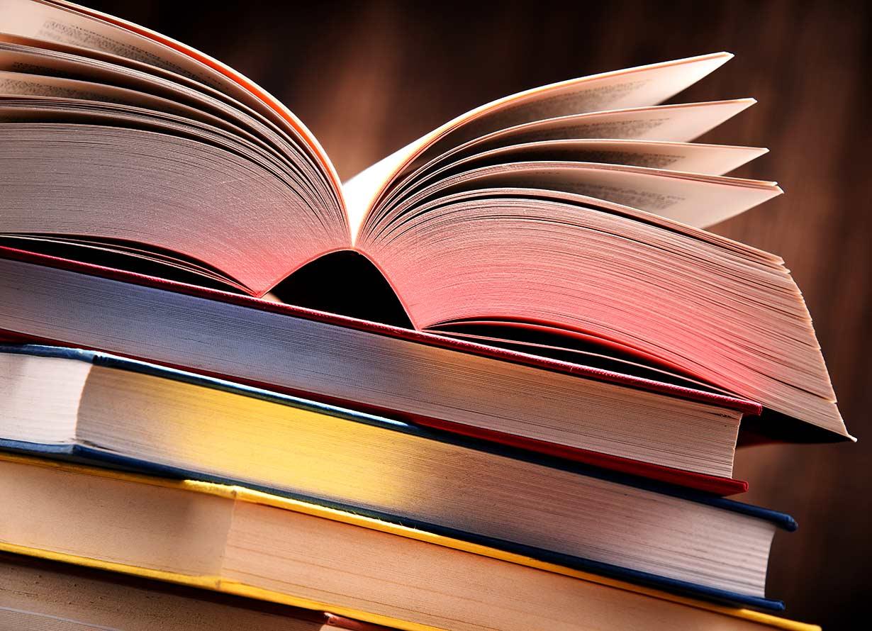 Foto de um livro aberto mais ou menos ao meio com folhas um pouco separadas. (crédito: monticelllo – iStock)