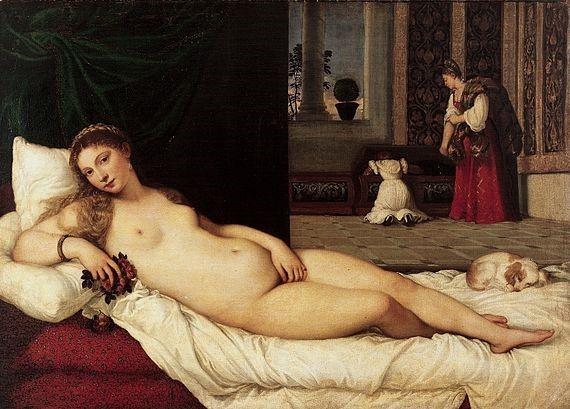 Pintura de Vênus de Urbino
