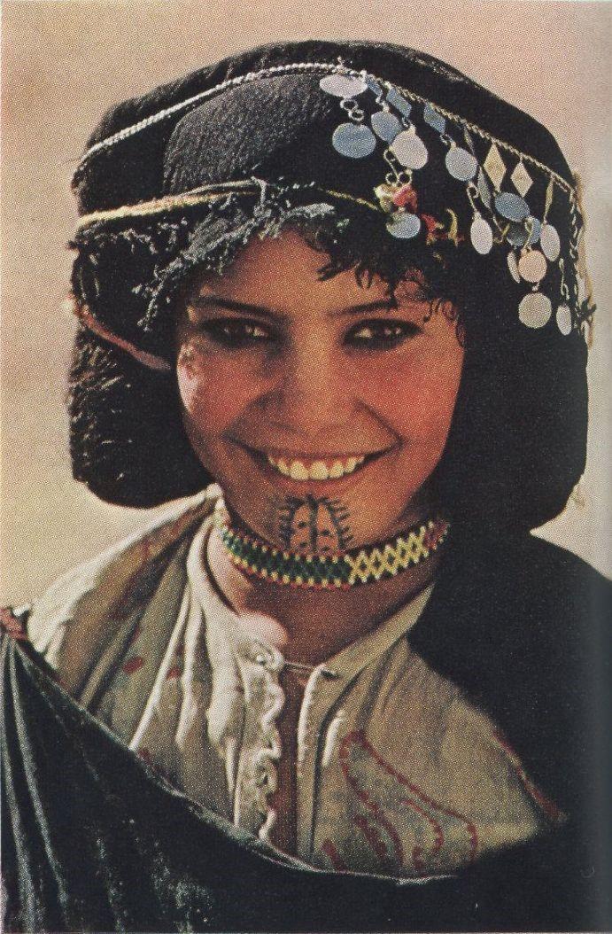 Foto de uma mulher Berber do Marrocos
