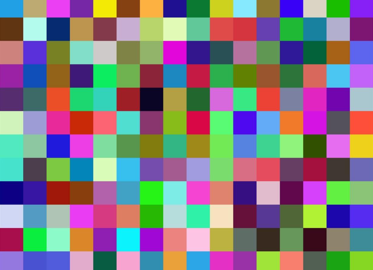 Foto de diversos quadrados coloridos formando um mosaico
