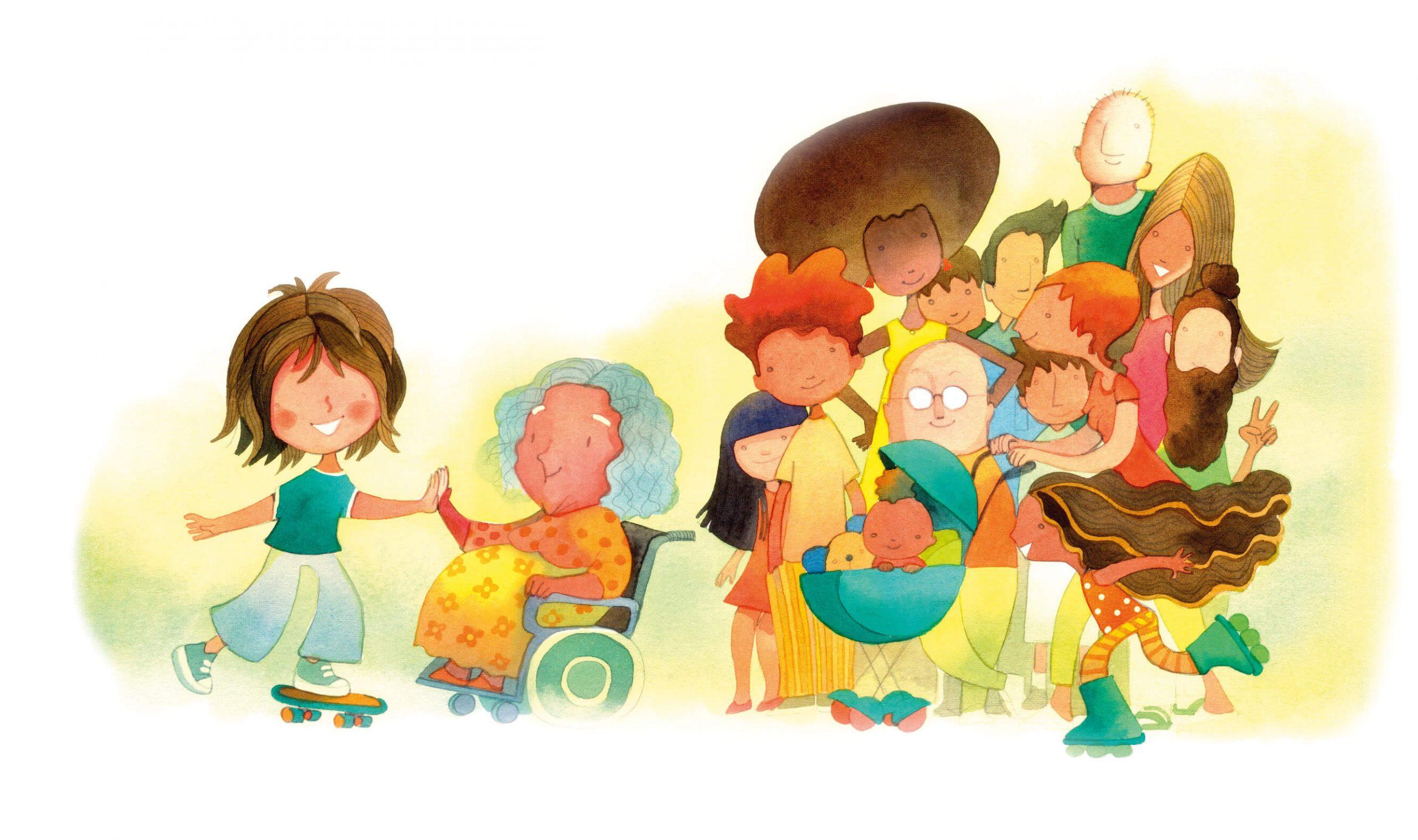 ilustração cadeirante