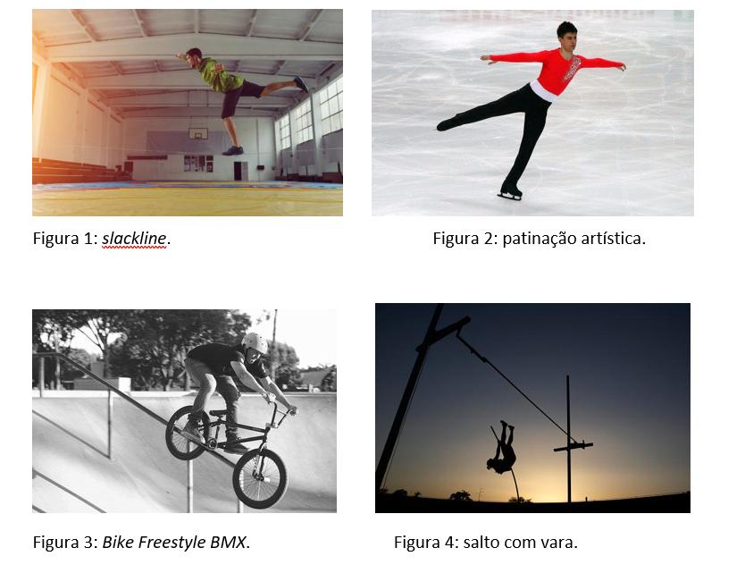 esportes técnico combinatórios com exceção de um