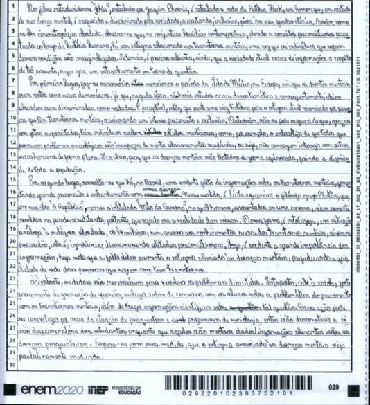 redação nota 1000 do ENEM