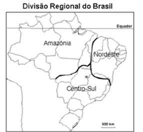 mapa divisão regional brasil