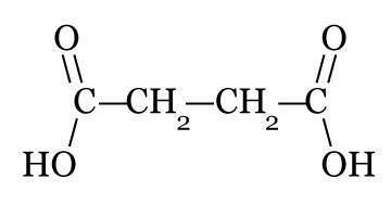 Fórmula do ácido butanodioico