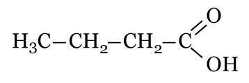 Fórmula do ácido butanoico