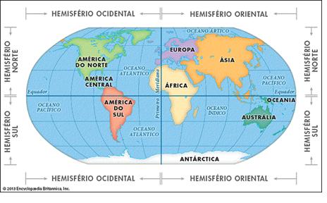 linhas imaginárias geográficas