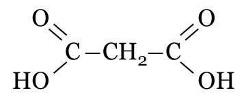 Fórmula do ácido propanodioico